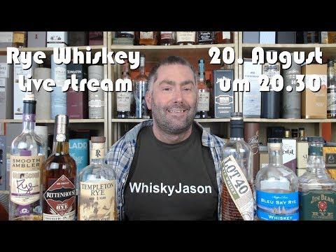#430 - Rye Whiskey Live Verkostung am 20. August mit WhiskyJason