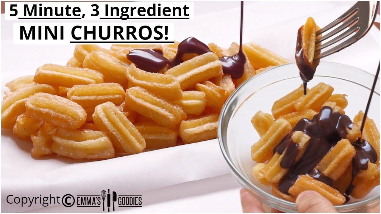 3 Ingredient Mini Churros Easy Churros Recipe How To Make Mini Churros Youtube