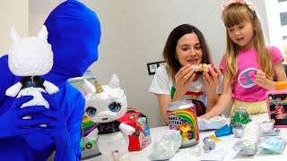 Настя и загадочный челлендж с игрушками / play a mysterious challenge with toys
