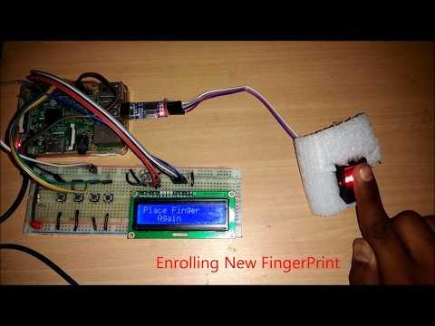 Raspberry Pi Fingerprint Sensor Interfacing Project with