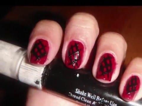 "bbycakes nail art tutorial ""emo"