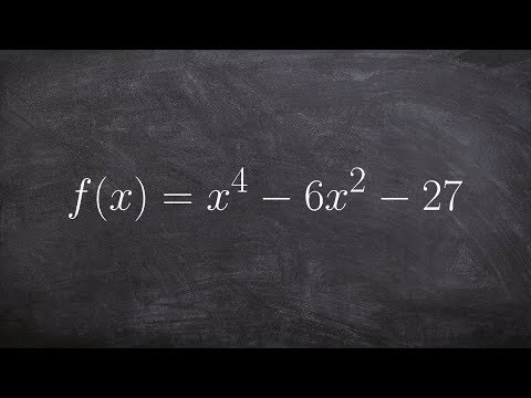 Learn How To Factor And Solve A Polynomial To The 4th Power