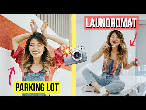 Ugly Location Photo Challenge! How to Pose with $1 Props!