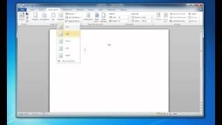Multiple Columns in Microsoft Word 2010