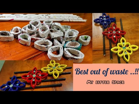 BEST OUT OF WASTE..!!| NEWSPAPER CRAFT IDEAS | DIY WALL HANGING |RECYCLE NEWSPAPER