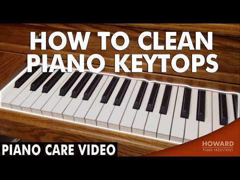 Piano Care Video - How to Clean Piano Keytops