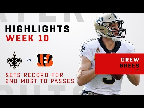 Brees Passes Favre for 2nd-Most TD Passes!