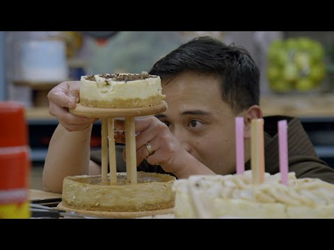 Brother Andrew's Cheesecake Tower Tumbles - The Great American Baking Show: Holiday Edition