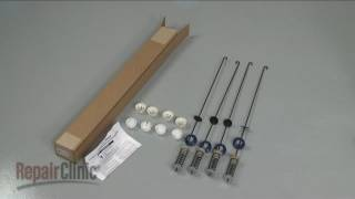 Washer Suspension Rod Kit Replacement – Cabrio/Oasis Top-Load Washer Repair (part #W10189077)