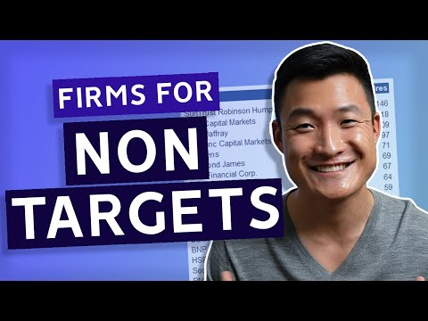 Investment Banking Firms For Non-Targets