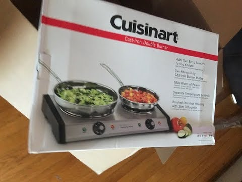 Cuisinart CB-60 Cast-Iron Double Burner Stainless Steel
