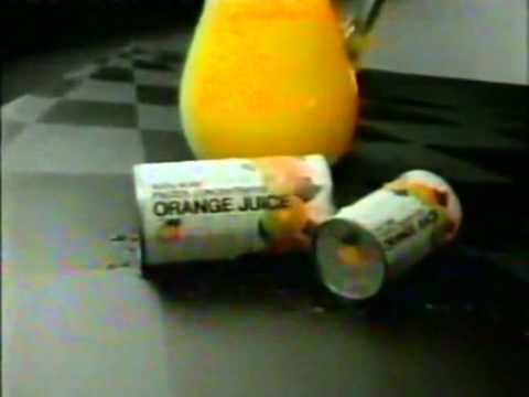 Frozen Orange Juice Commercial 1987