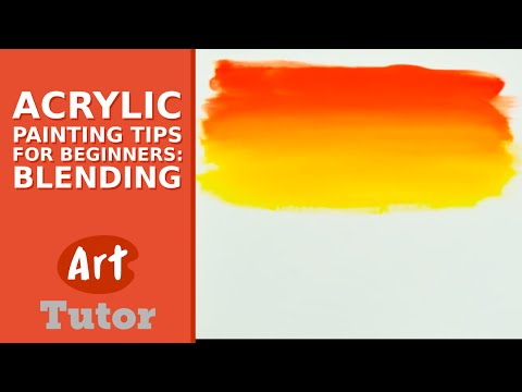 Acrylic Painting Tips for Beginners: Blending