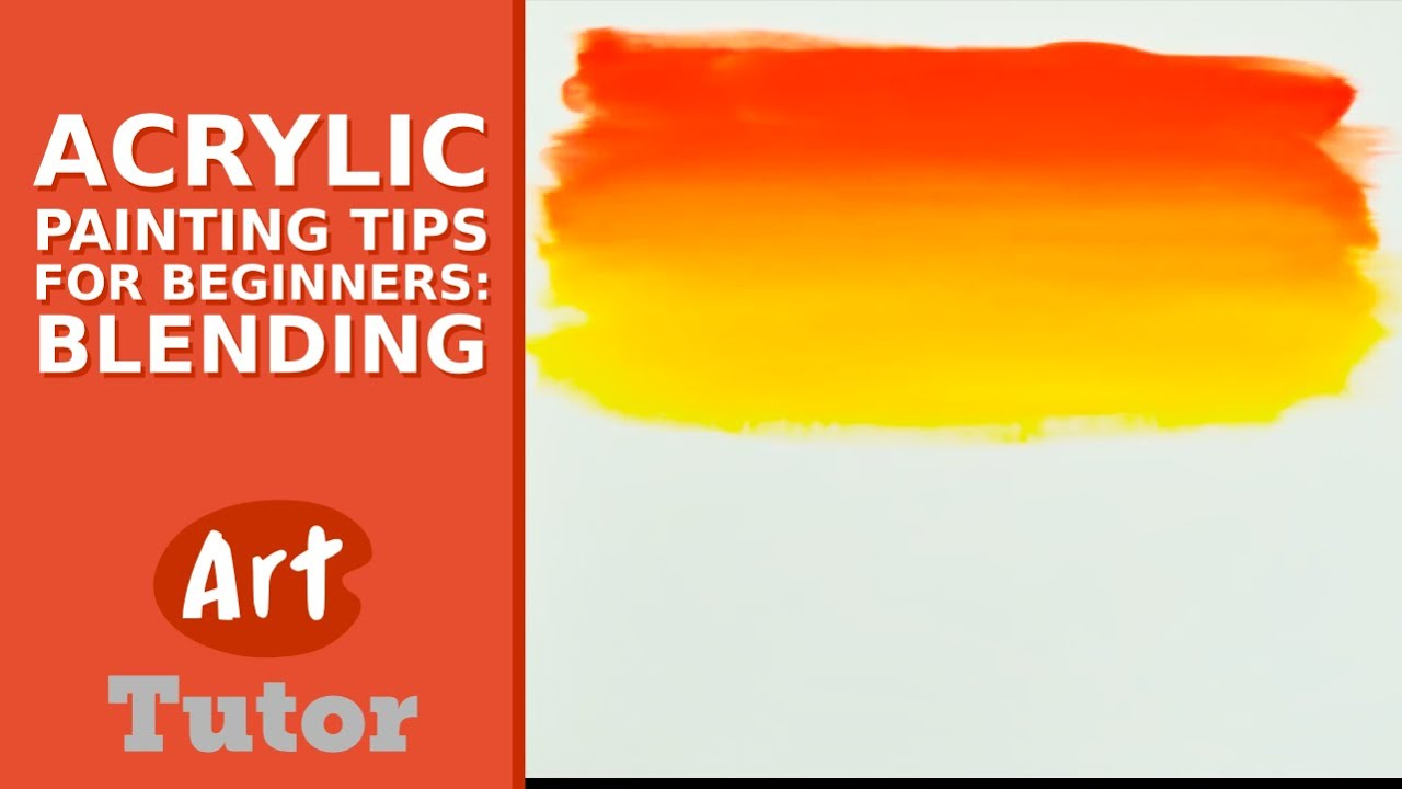 Acrylic painting tips for beginners blending funnycat tv for How to paint with acrylics for beginners