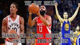 Ranking All 30 NBA Shooting Guards Coming Into 2016-17 Season