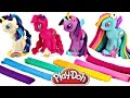 Play Doh MY LITTLE PONY Make N' Style Ponies #1 | Rainbow Dash, Pinkie Pie, Twilight Sparkle, Rarity