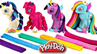 Play Doh MY LITTLE PONY Make N' Style Ponies #1   Rainbow Dash, Pinkie Pie, Twilight Sparkle, Rarity