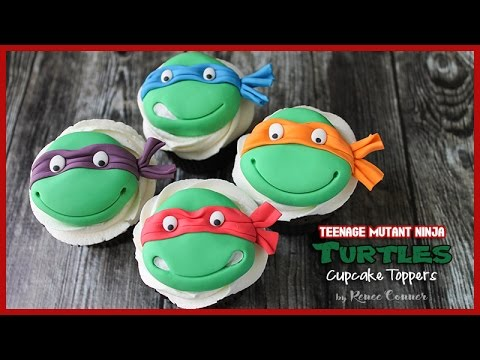 Tmnt Cupcake Toppers Renee Conner Youtube