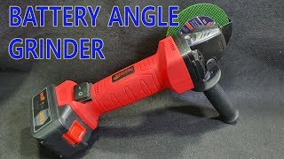 Electric Angle Grinder Cordless Cutting Tool with Battery - Great tool for DIY work
