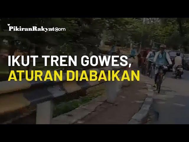 Viral Video Kawanan Pesepeda Abaikan Aturan Lalu Lintas, Gowes Sekedar Ikut Tren?