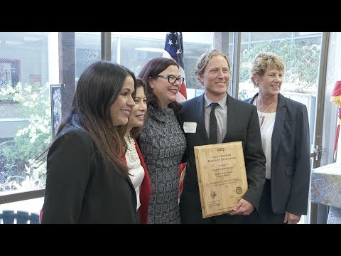 Chief Justice Presents Award at Garden Grove School
