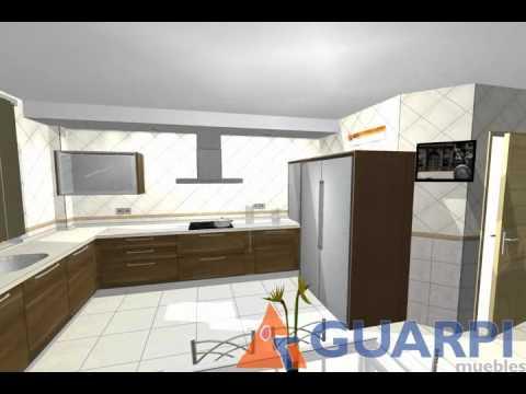 Proyecto de cocina moderna en madera youtube - Cocinas modernas de madera ...