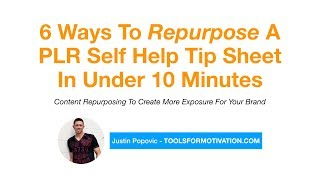 6 Ways To Repurpose A Simple Tip Sheet (PLR Content)