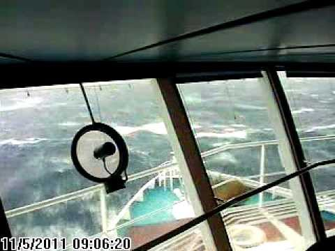 Rough Weather Carnival Cruise Line Bridge Cam Youtube