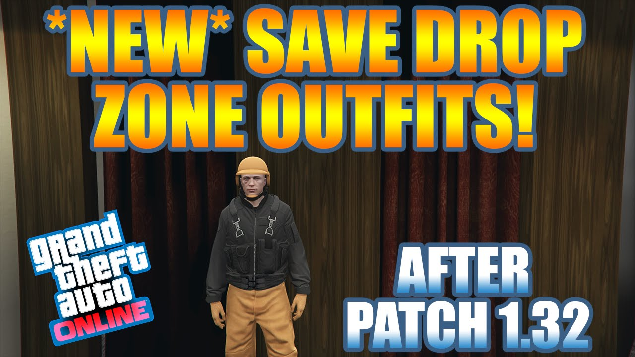 GTA 5 Online u0026quot;NEWu0026quot; SAVE DROP ZONE OUTFITS GLITCH! [1.32] u0026quot;OUTFIT GLITCHu0026quot; (PS4 u0026 Xbox One) - YouTube