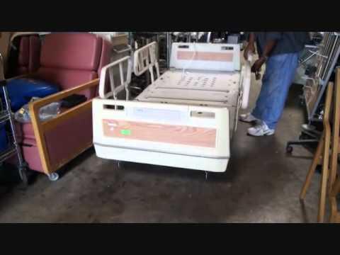 refurbished used hill rom electric hospital beds for sale youtube. Black Bedroom Furniture Sets. Home Design Ideas