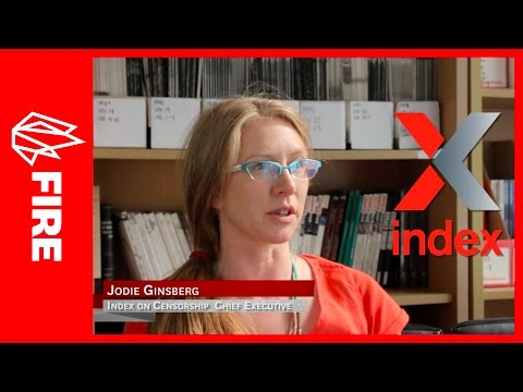 Jodie Ginsberg of Index on Censorship on Global Free Speech Issues