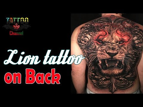 Lion Tattoo on Back 2018