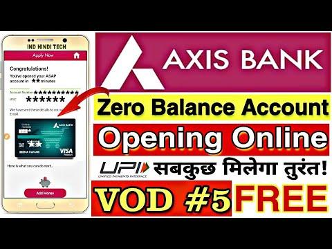Axis Bank Zero Balance Account Opening Online New Process || Axis Bank Saving Account Opening Online