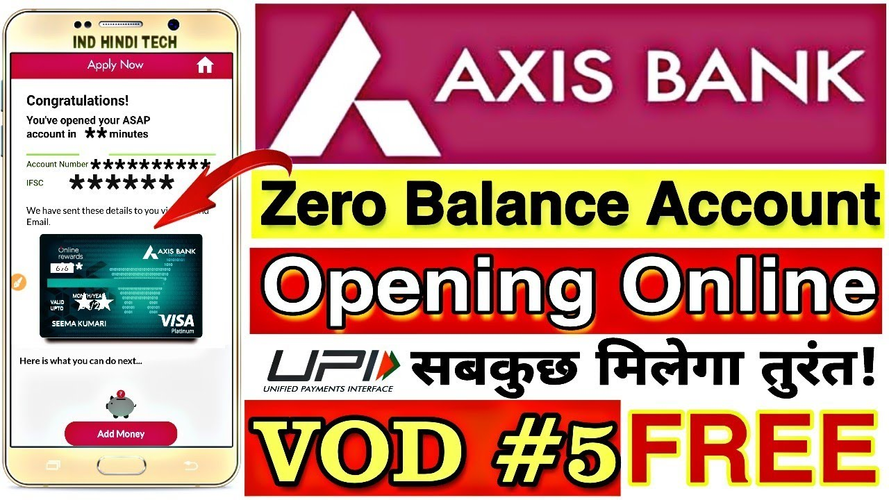 axis bank saving online