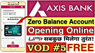 Axis Bank Zero Balance Account Opening Online New Process || Axis Bank Saving Account Opening Online