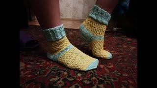 Фото Носочки Мастер класс. Вяжем красивые носки мастеркласс красивыйузор вязание Knitting лучшее мк