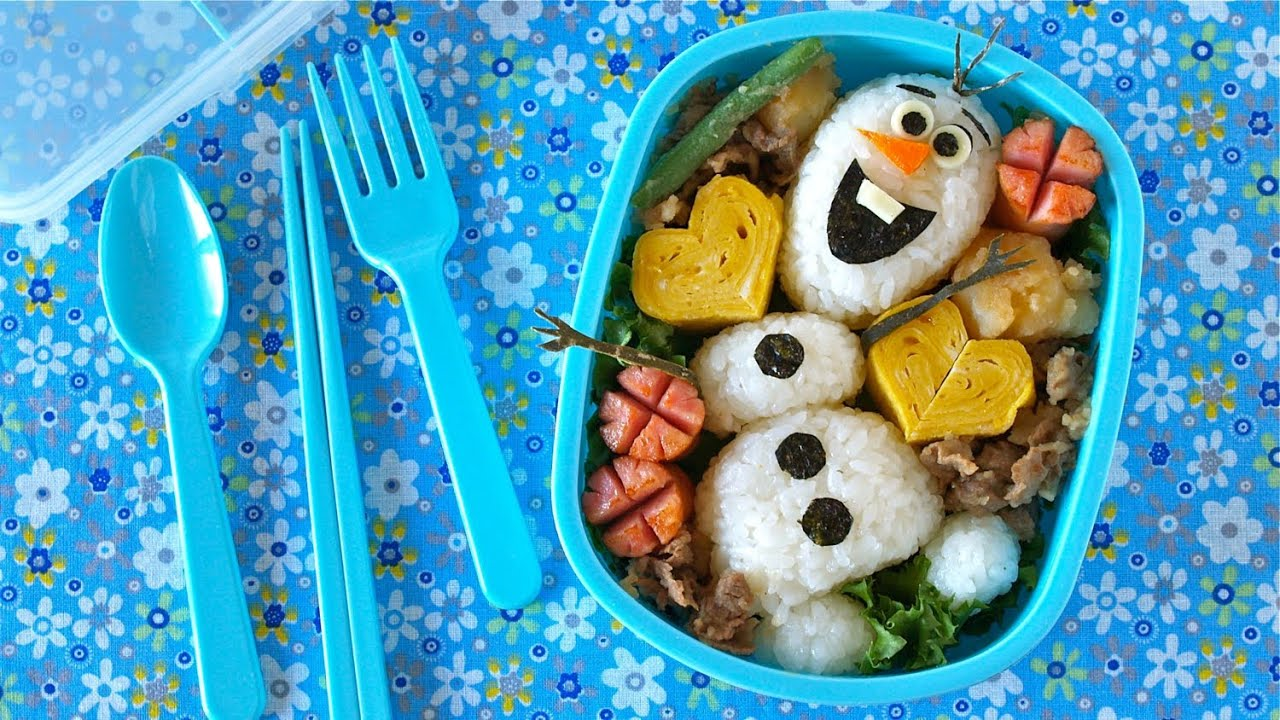 olaf bento lunch box disney frozen do you wanna build a snowman ochikeron youtube. Black Bedroom Furniture Sets. Home Design Ideas