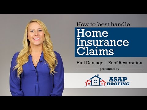 How Does the Home Insurance Claim Process Work for Hail Damage? - ASAP Roofing FAQ