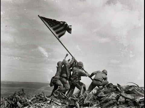 Newsreel US Marines raising the flag on Iwo Jima