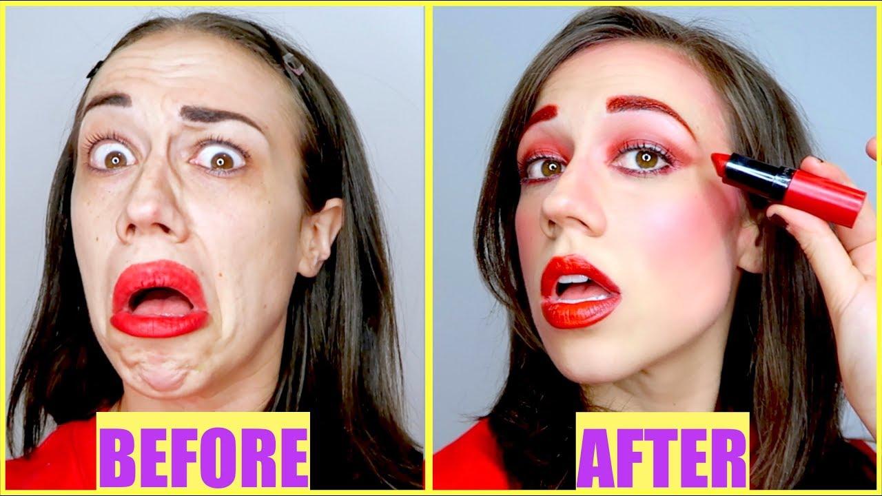 full-face-using-only-miranda-s-lipstick