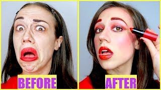 Video FULL FACE USING ONLY MIRANDA'S LIPSTICK! download MP3, 3GP, MP4, WEBM, AVI, FLV Januari 2018