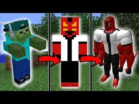 Minecraft BEN 10 MOD / LIVE IN THE LIFE OF A BEN 10 MONSTER !! Minecraft thumbnail
