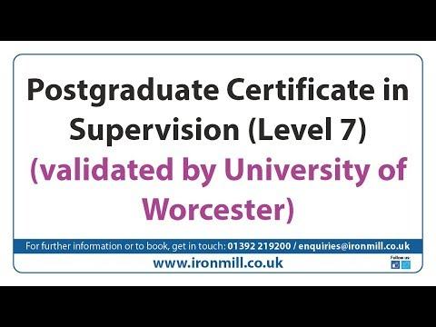 Iron Mill College - Postgraduate Certificate in Supervision