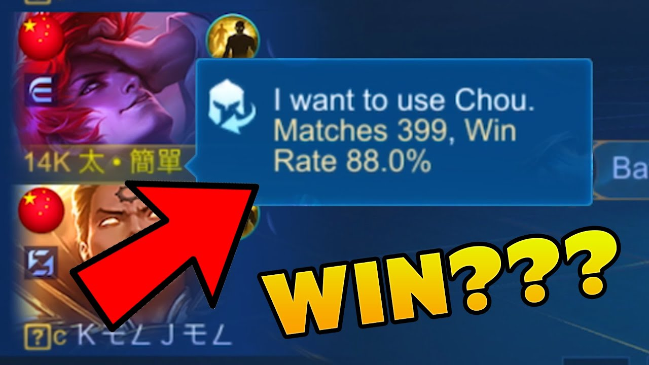 MY 400 MATCHES CHOU ( WIN OR LOSE? ) - MLBB