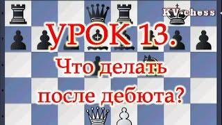 Что делать после дебюта в шахматной партии? - Урок 13 для 3 разряда.