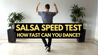 How Fast Can You Salsa Dance? Take the Salsa Speed Test! (160-300 BPM) - salsa music fast songs
