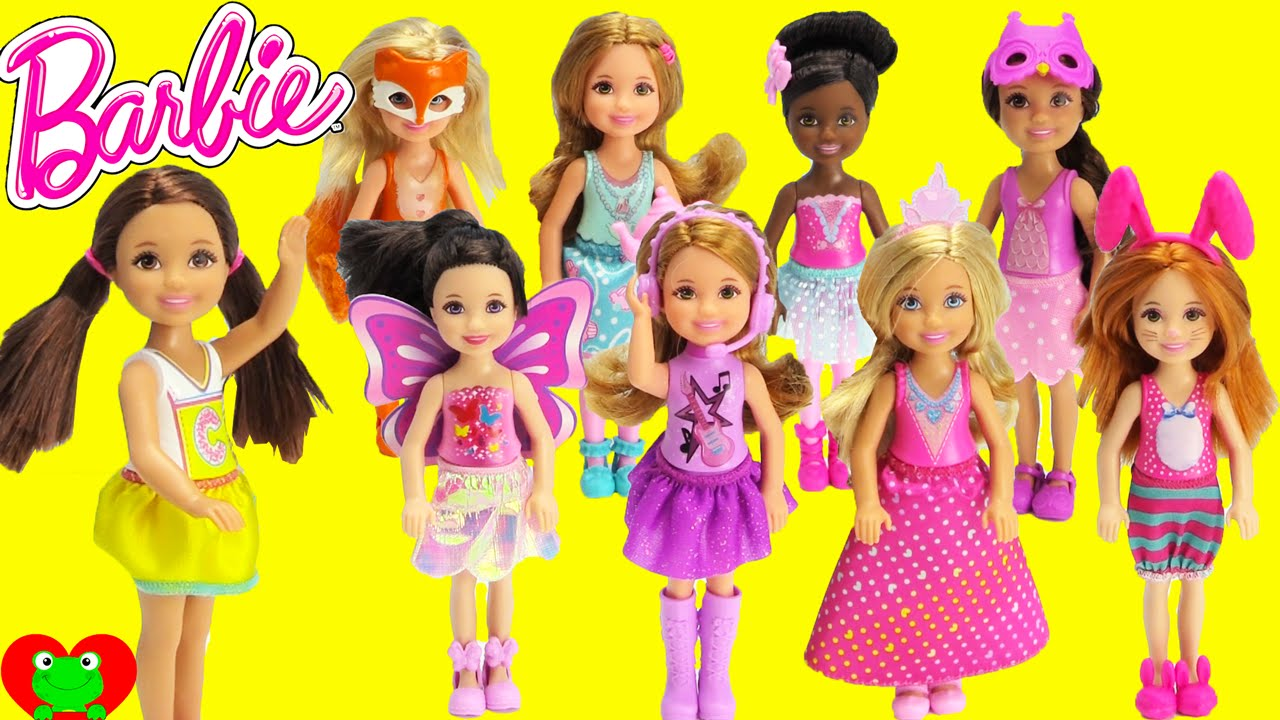 Barbie Dolls Small Chelsea and Friends - YouTube f2d24b31f