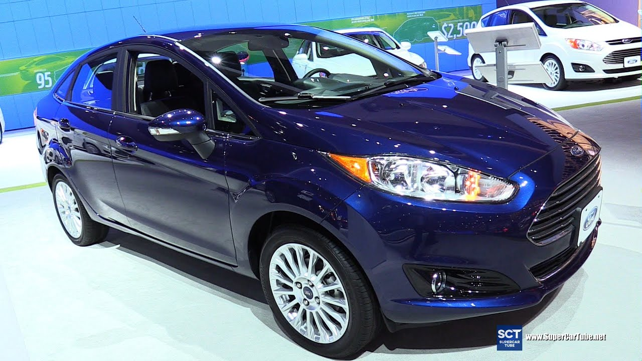 2016 ford fiesta titanium exterior and interior walkaround 2015 la auto show youtube. Black Bedroom Furniture Sets. Home Design Ideas