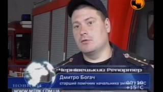 Спасение людей МНС во время потопа на Буковине