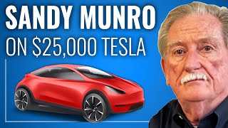 SANDY MUNRO Defends $25,000 Tesla Timeline